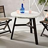 White Mosaic Outdoor Bistro Table