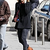 Drew Barrymore out in Paris.