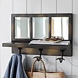 Eagan Bronze Window Pane Entryway Mirror With Hooks ($199)