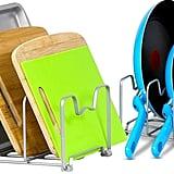 SimpleHouseware Kitchen Cabinet Pantry and Bakeware Organiser Rack Holder