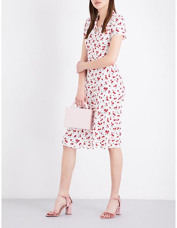 466b044b3cd HVN Morgan Cherry-Print Silk-Satin Dress