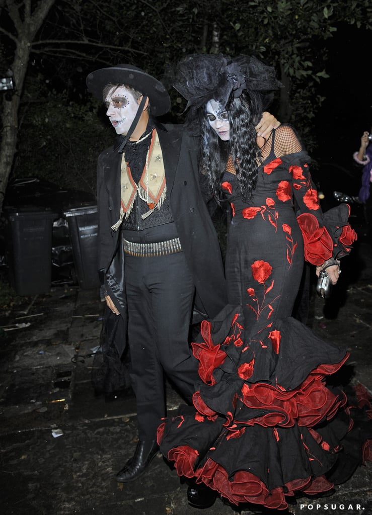 Kate Moss and Jamie Hince dressed as the undone for a Halloween party in London.