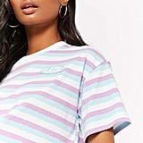 Forever 21 Striped Boxy Crop Tee