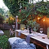 """Whitney's love of overgrown greens is evident in her cosy backyard — and serves a useful purpose. """"Outdoor walls covered in ivy or creeping fig can soften the appearance of city porches and patios,"""" she points out."""