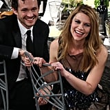 Claire Danes and Hugh Dancy had a laugh during the show.