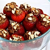 Dessert: Chocolate Almond Quinoa Stuffed Strawberries