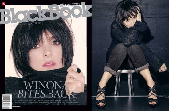 Photos And Quotes From Winona Ryder in BlackBook Magazine
