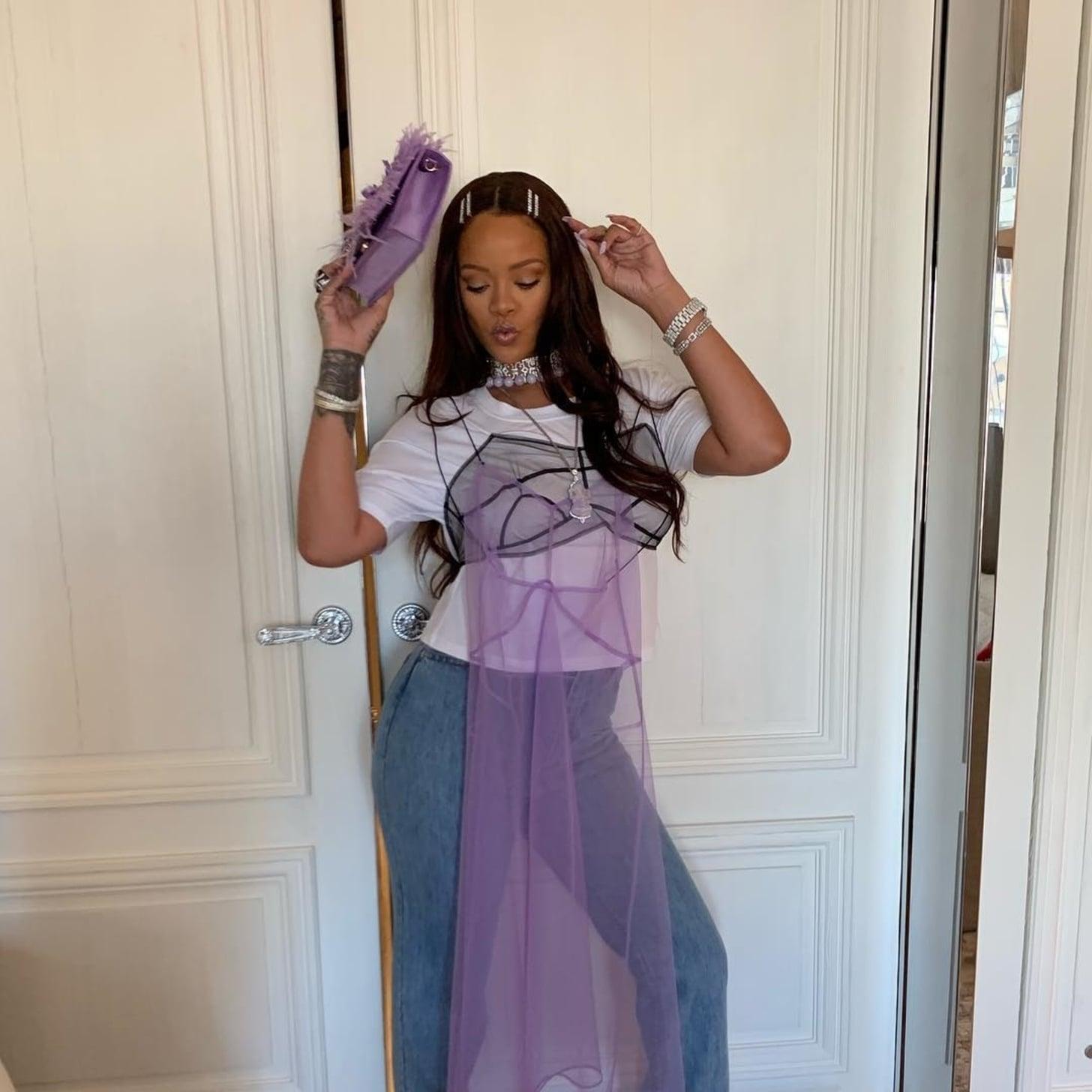 Rihanna Wears Crystal Bobby Pins on Instagram | POPSUGAR Beauty UK