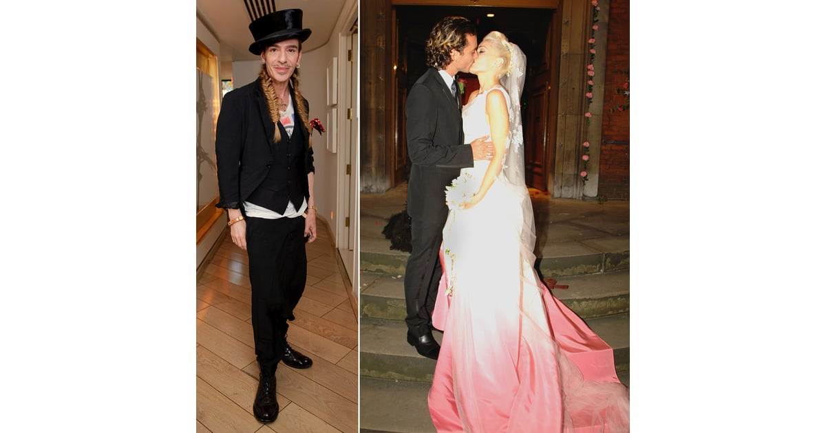 Gwen Stefani And John Galliano Who Did The Dress 14 Celebrity Wedding Gowns And The Designers Who Created Them Popsugar Fashion Photo 7