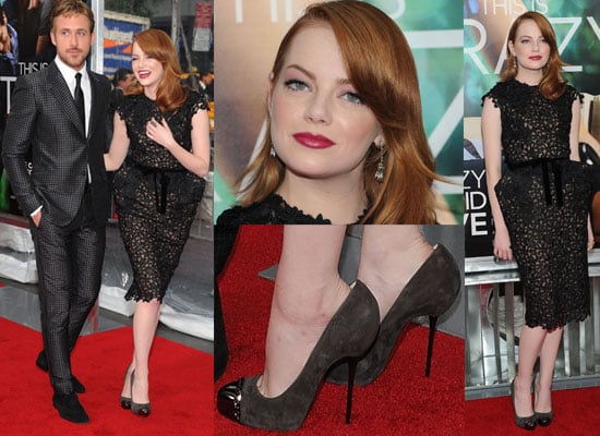 Pictures of Emma Stone and Ryan Gosling at the Premiere Crazy Stupid Love in New York City: See Emma's Outfit Up Close!