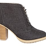 We're not sure which detail we fell in love with first: the lace-up front, the charcoal-hued felt wool, or the stacked heel. Whatever way you spin it, this is a boot that will serve as both a chic and comfortable accessory. Pair it with a long printed skirt and textured sweater for a fierce Fall combo. Marais USA Shirt Boot in Charcoal ($160)