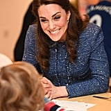 Kate greeted families at the official opening of the Ronald McDonald House Evelina in London in February.