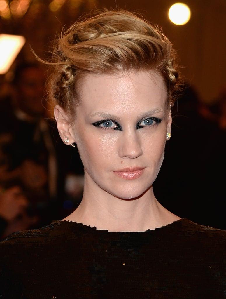 January Jones's Hair and Makeup at the 2013 Met Gala
