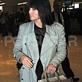 Jessica Biel showed her engagement ring at LAX.