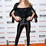 Model Lindsay Ellingson was the perfect Sandy from Grease at Heidi Klum's 2013 party.