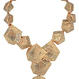 Oscar de la Renta 24-Karat Gold-Plated Wood-Effect Necklace ($545)