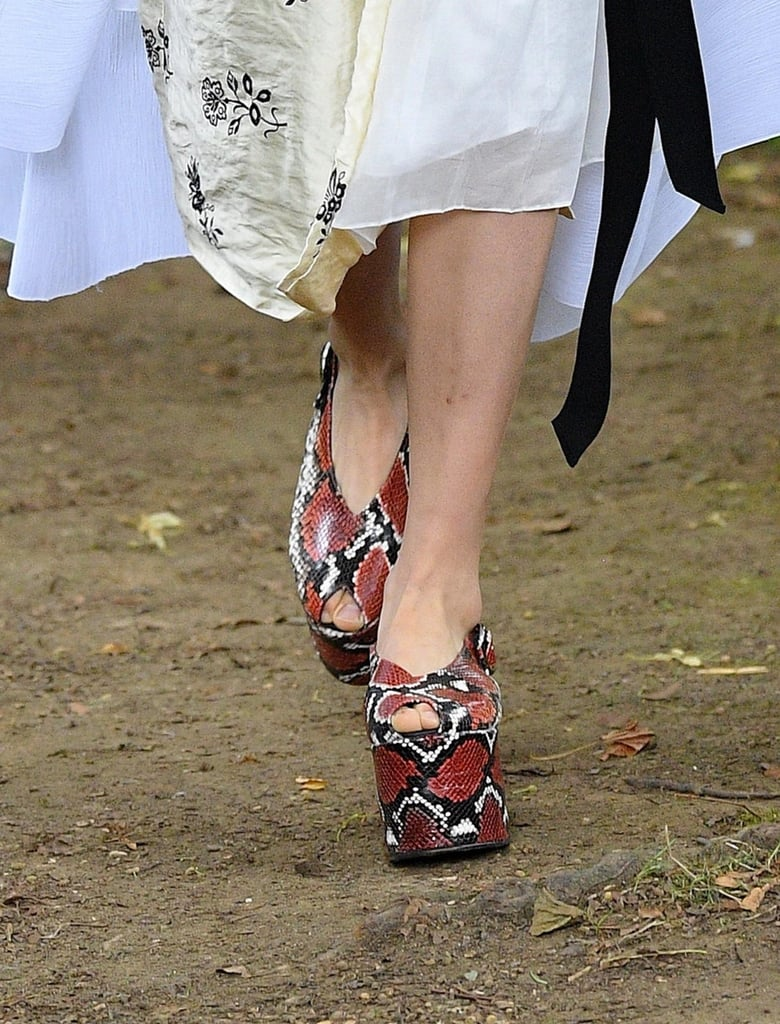 Shoes from the Erdem Spring/Summer 2021 runway.