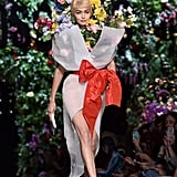 She Transformed Into a Flower Bouquet at Moschino