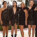 Pictured: Charlotte Casiraghi, Charlotte Gainsbourg, Kate Moss, and Amber Valletta