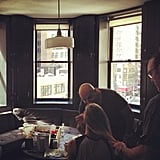 Brooklyn Decker shared a photo while getting her hair and makeup done. Source: Instagram user brooklynddecker