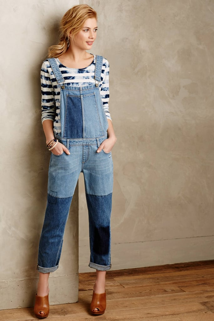 Paige Patchworked Sierra Overalls Tinted Denim ($299)