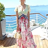 For the Cannes Film Festival, Emily wore a multifloral printed dress from Attico.