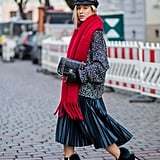 Style It With a Pleated Skirt and Newsboy Cap