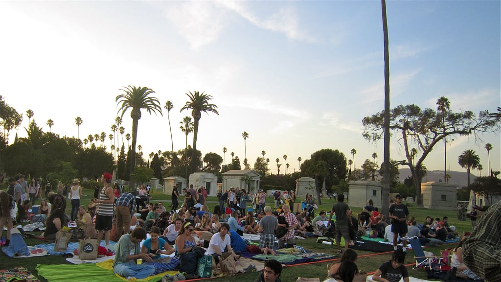 Watch a movie at the cemetery.