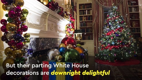 white house christmas decorations 2016 video popsugar celebrity