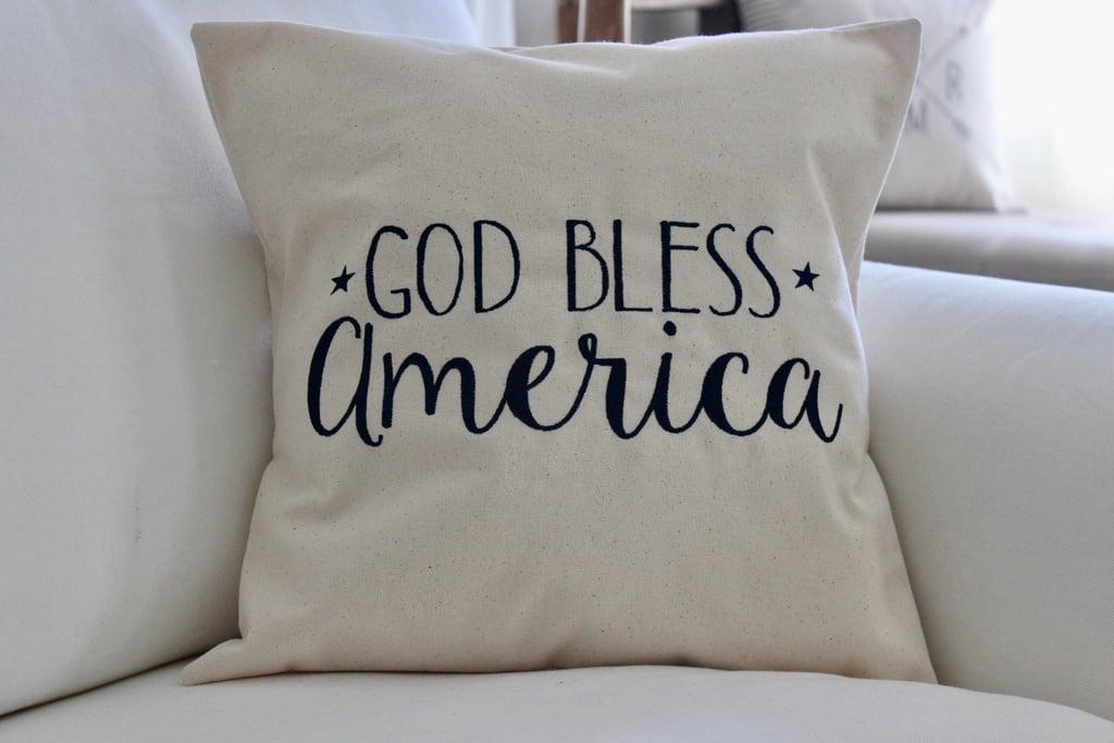 God Bless America Pillow Cover