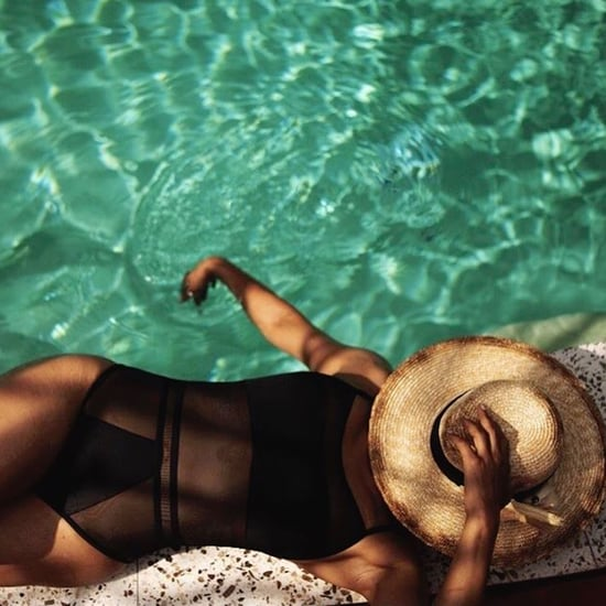 Halle Berry Shares a Photo of Her Sexy, Sheer Black Swimsuit