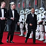 Prince William and Harry Star Wars Last Jedi Premiere 2017
