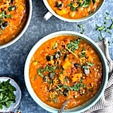 Sweet Potato, Chickpea, and Red Lentil Soup