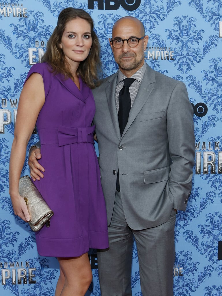 Stanley Tucci snapped photos with his wife, Felicity Blunt.