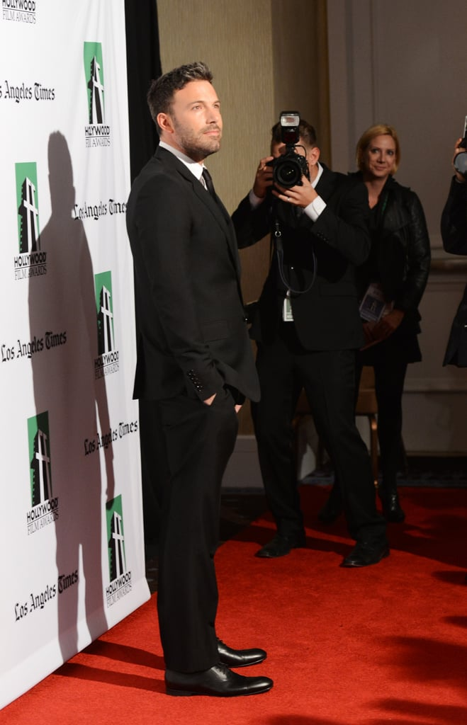 Ben Affleck posed for photos on the red carpet at the gala.