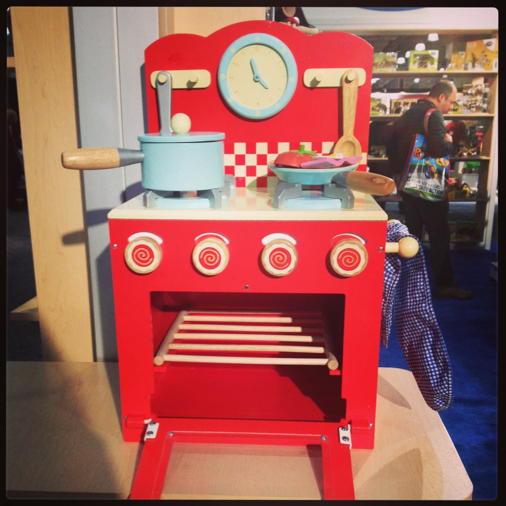 Le Toy Van's wooden stove top is beyond adorable!