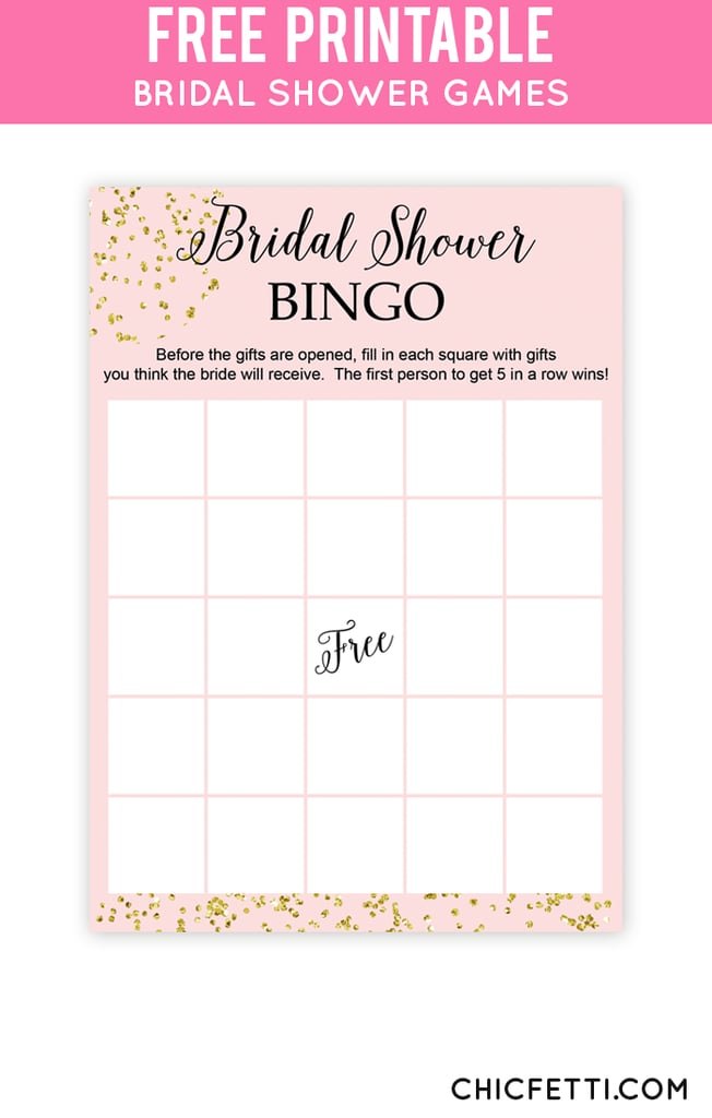 Crazy image intended for bridal shower bingo printable