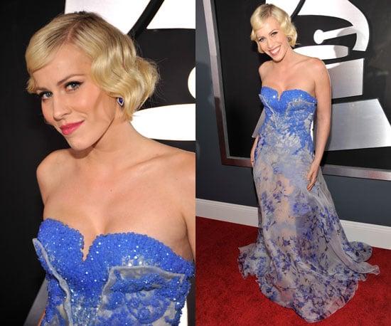 Natasha Bedingfield in blue floral gown Grammys 2011