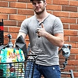 Chris Pratt's muscular physique was on display when he went grocery shopping in LA on Sunday. He has a lot to celebrate — his new movie Guardians of the Galaxy broke a record at the box office.
