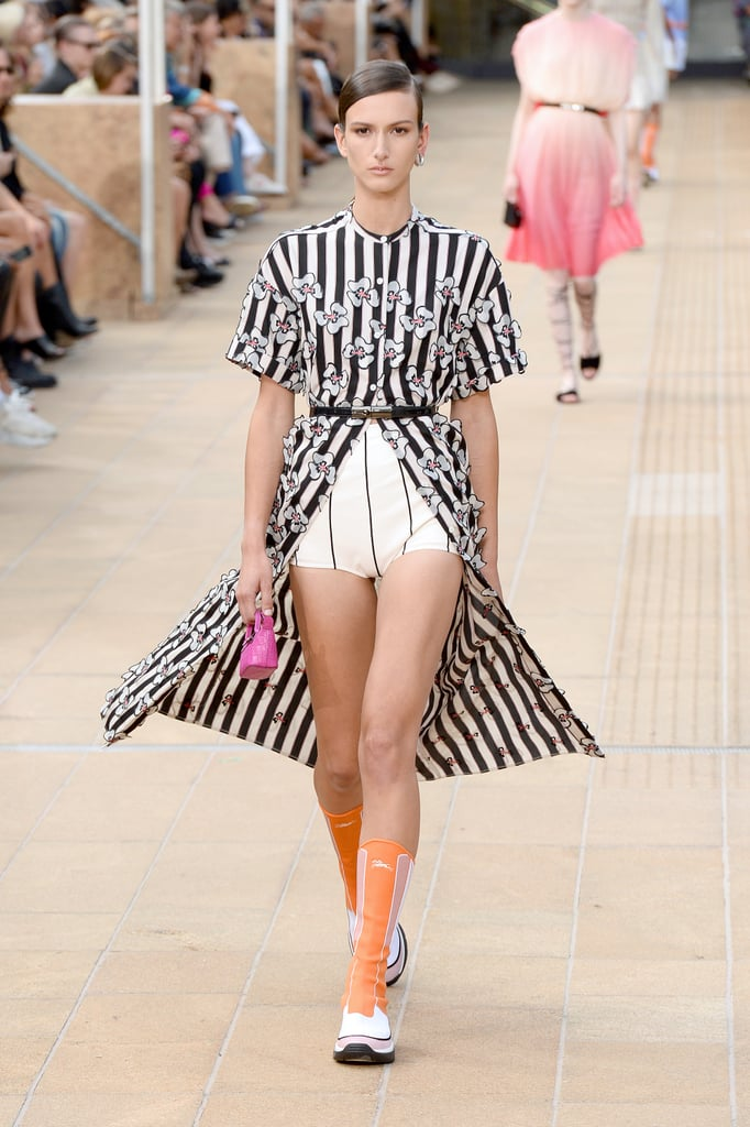 A Shirtdress Over Shorts on the Longchamp Runway During New York Fashion Week