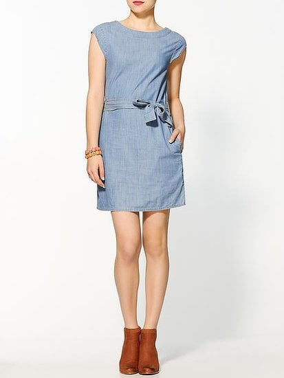 Hive & Honey's Sienna chambray minidress ($25, originally $69) is easy to wear with flats or style up with suede boots.