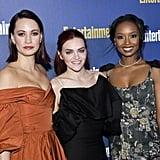 Kristen Gutoskie, Madeline Brewer, and Ashleigh LaThrop at EW's 2020 SAG Awards Preparty