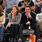 Jessica Alba and Cash Warren watched the NY Knicks play the Cleveland Cavaliers in March 2011.
