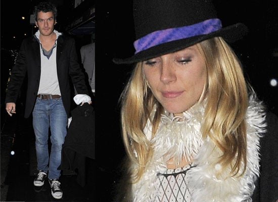 28/11/08 Sienna Miller & Balthazar Getty
