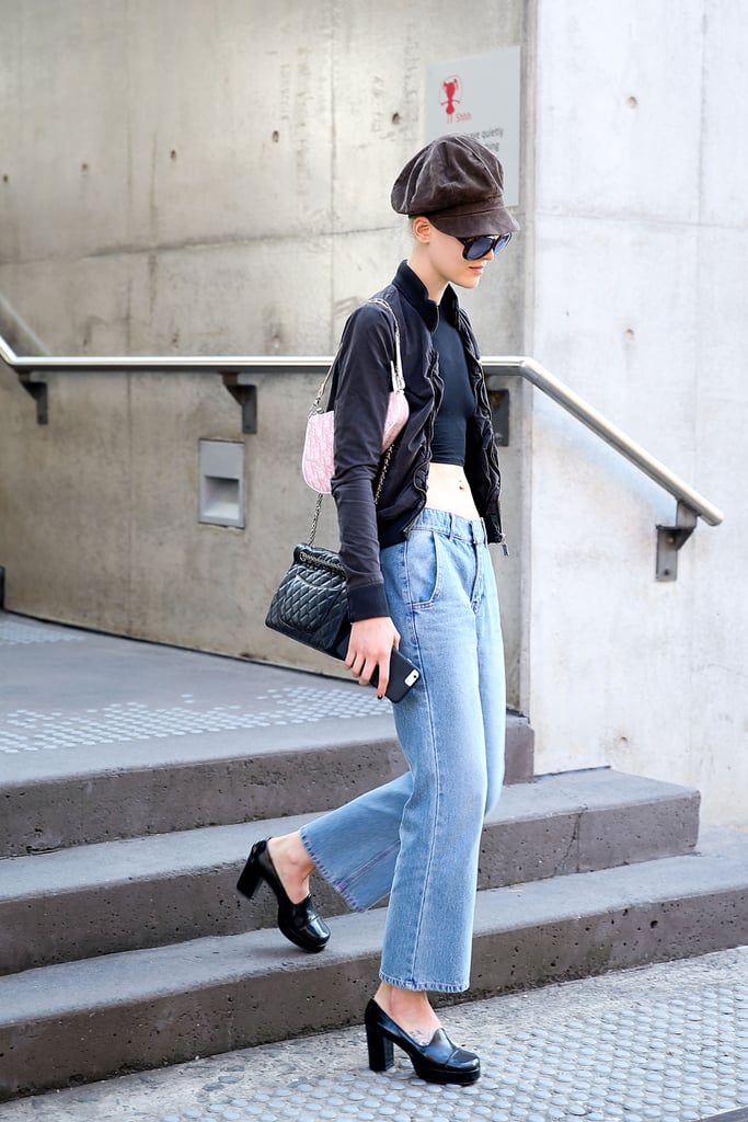 Chunky Shoes and a Bomber Ground the Look