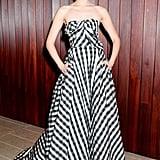 Emmy Rossum Loves Strapless Gowns From Carolina Herrera