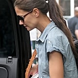 Katie Holmes hopped into a car after a walk in NYC.