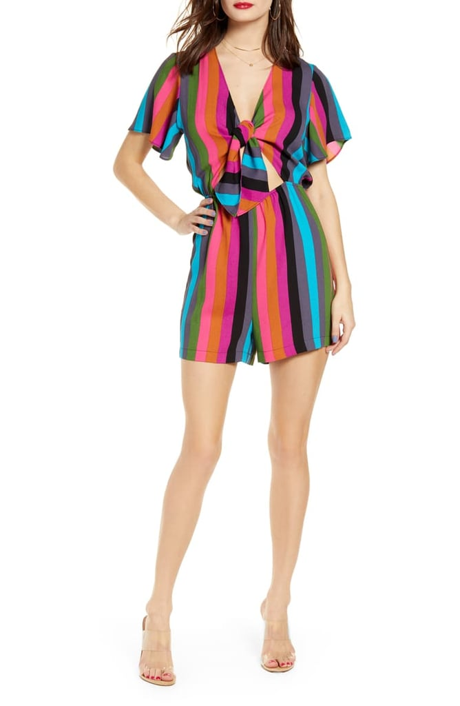 Leith Kimono Style Tie Front Romper | Best Rompers 2019