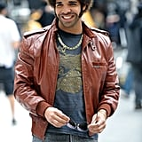 Drake made a cameo on the Anchorman 2 set in NYC.