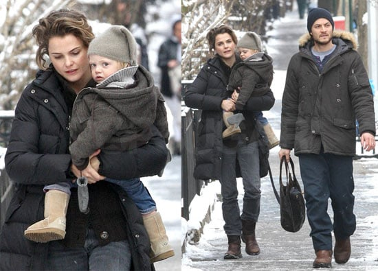 Photos of Keri Russell Out in Snowy NYC with Husband Shane Deary and Son River Deary